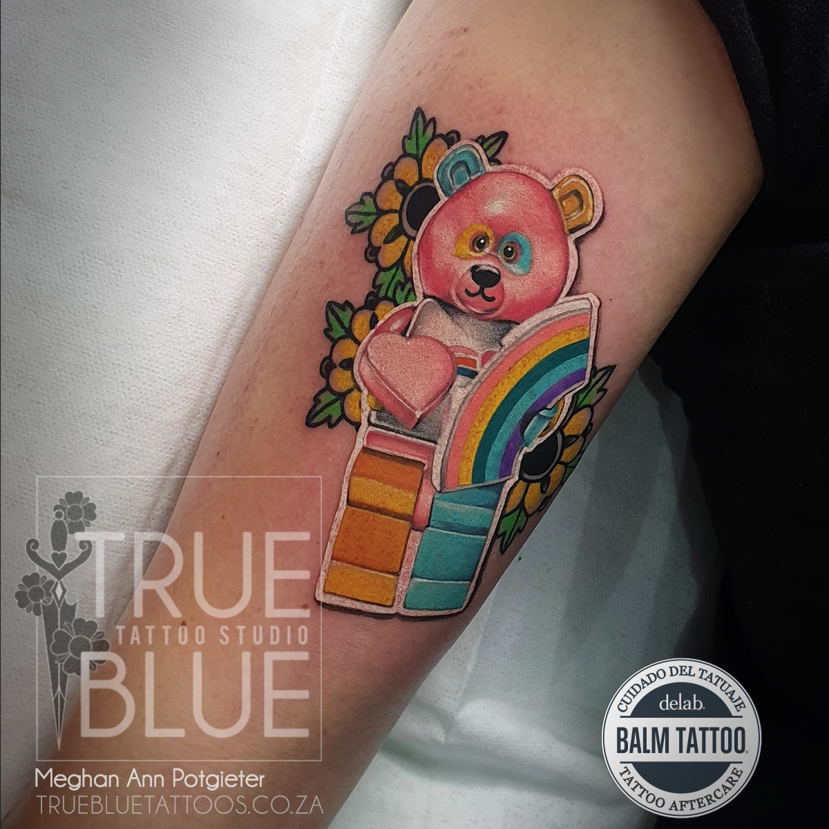 Tattoo-meghan-ann-color-realism-neo-traditional-bear-lego